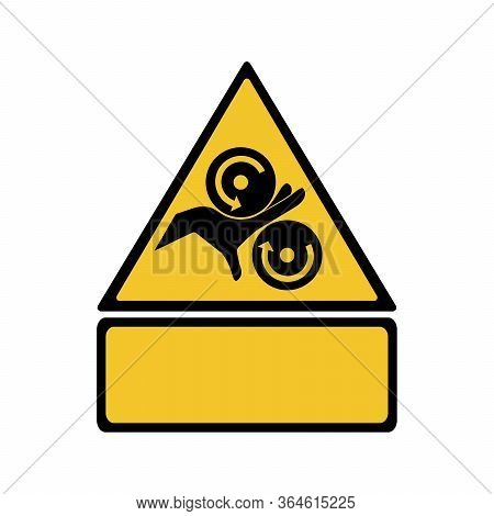 Crushing Of Hands Sign Or Symbol. Vector Design Isolated On White Background. Warning Signs Collecti