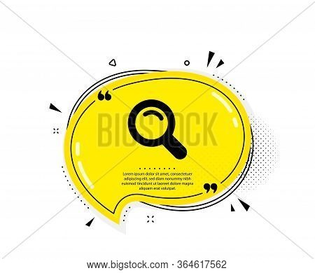 Search Icon. Quote Speech Bubble. Magnifying Glass Sign. Enlarge Tool Symbol. Quotation Marks. Class
