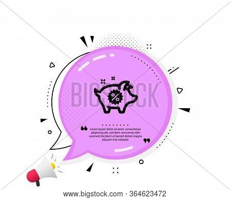 Piggy Sale Icon. Quote Speech Bubble. Shopping Discount Sign. Clearance Symbol. Quotation Marks. Cla