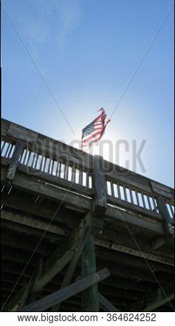 Folly Beach Pier, South Carolina, United States Of America, North America