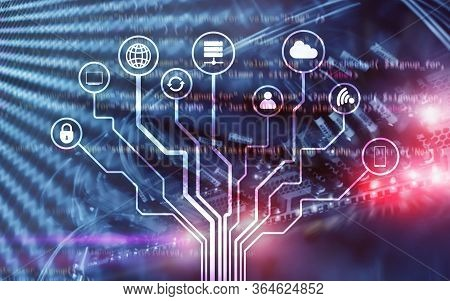 Server Room Ict Information Communication Technology Wireless Internet Connection Big Data Processin