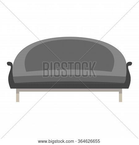 Black Color Textile Sofa Icon. Cartoon Of Black Color Textile Sofa Vector Icon For Web Design Isolat