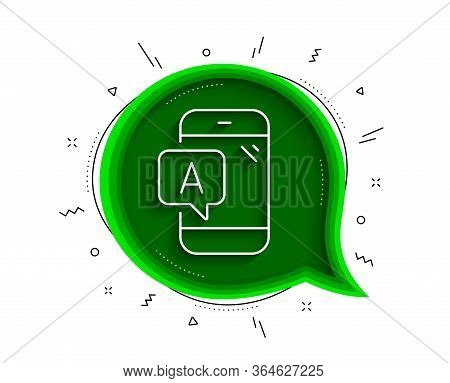 Ab Testing Line Icon. Chat Bubble With Shadow. Ui Phone Test Sign. Thin Line Ab Testing Icon. Vector