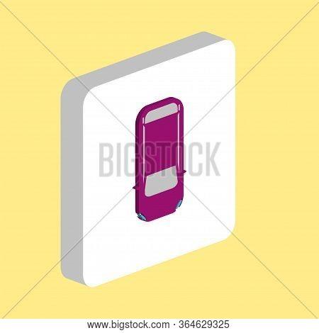 Top View Car, Auto Simple Vector Icon. Illustration Symbol Design Template For Web Mobile Ui Element