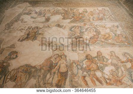 Ancient Mythology Mosaics In House Of Theseus