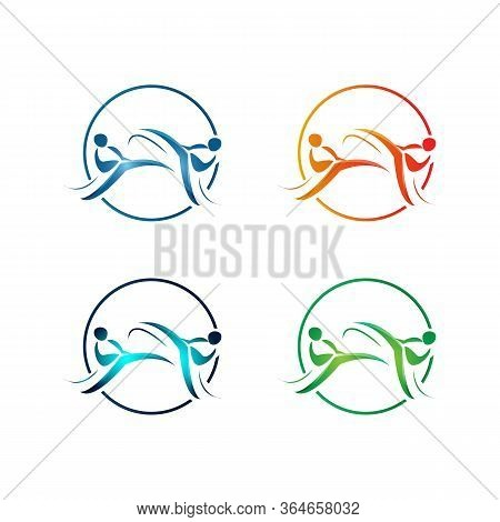 Abstract Karate Logo Template Vector Illustration Eps 10.