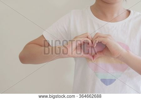 Girl Making Heart Shape Hands, Generous, Love And Kindness, Sustainable Living, Donate, Charity, You