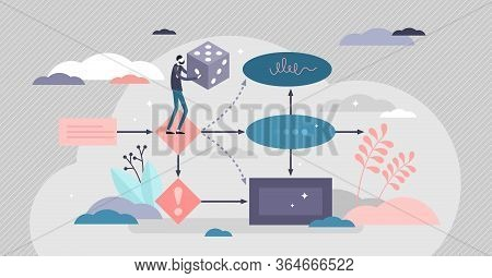 Next Move Vector Illustration. Business Choice Option Flat Tiny Persons Concept. Decision Making Sce