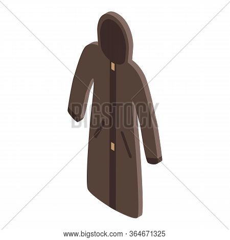 Fisherman Coat Icon. Isometric Of Fisherman Coat Vector Icon For Web Design Isolated On White Backgr