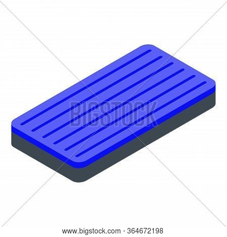 Float Inflatable Mattress Icon. Isometric Of Float Inflatable Mattress Vector Icon For Web Design Is