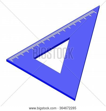 Plastic Angle Ruler Icon. Isometric Of Plastic Angle Ruler Vector Icon For Web Design Isolated On Wh