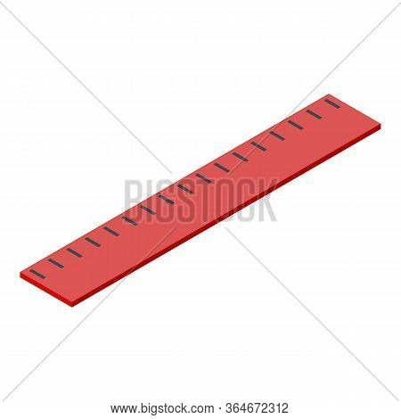 Measure Cm Ruler Icon. Isometric Of Measure Cm Ruler Vector Icon For Web Design Isolated On White Ba