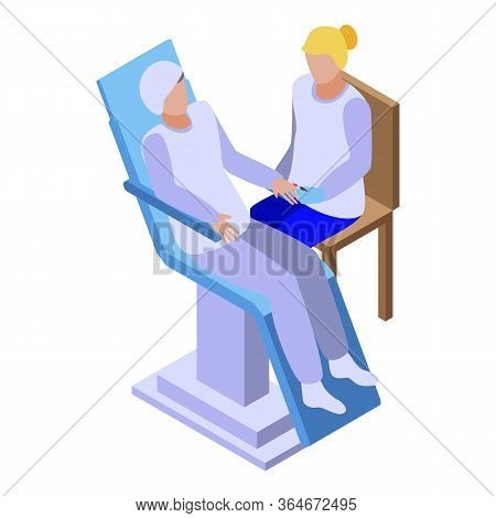 Beautician Manicure Icon. Isometric Of Beautician Manicure Vector Icon For Web Design Isolated On Wh