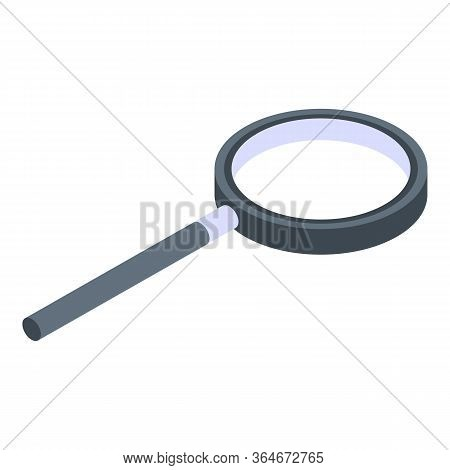 Medical Magnifier Icon. Isometric Of Medical Magnifier Vector Icon For Web Design Isolated On White