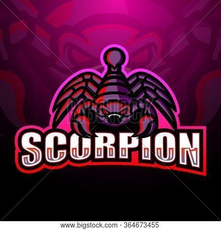 Vector Illustration Of Scorpion Mascot Esport Logo Design
