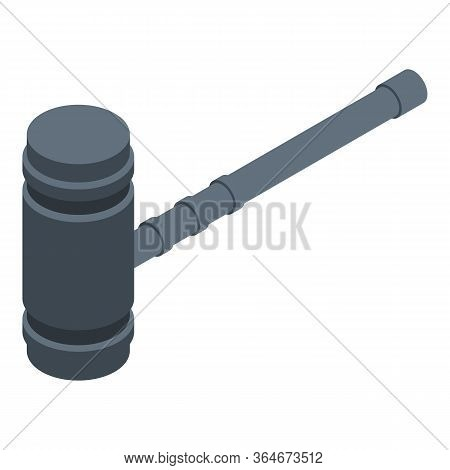 Judge Hammer Icon. Isometric Of Judge Hammer Vector Icon For Web Design Isolated On White Background