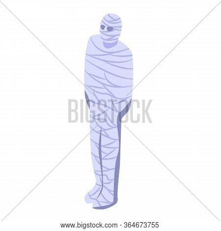 Horror Mummy Icon. Isometric Of Horror Mummy Vector Icon For Web Design Isolated On White Background