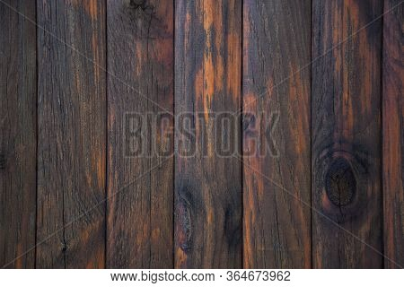 Old Weathered Distressed Dark Brown Wooden Boarding Wood Texture Background, Dark Brown Plank Fence