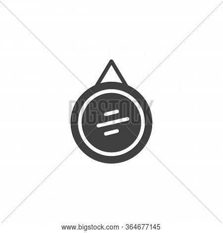 Circle Frame Mirror Vector Icon. Filled Flat Sign For Mobile Concept And Web Design. Wall Mirror Wit