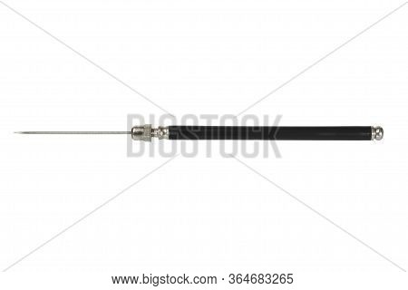 Steel Dissection Needle Isolated On White Background