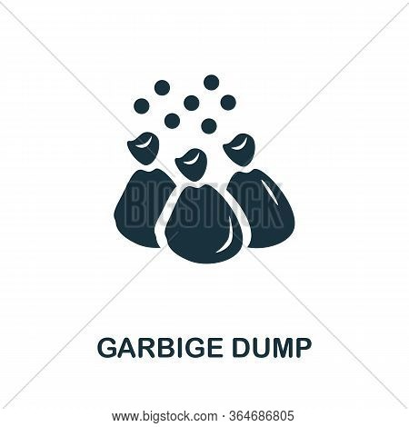 Garbige Dump Icon. Simple Illustration From Recycling Collection. Creative Garbige Dump Icon For Web