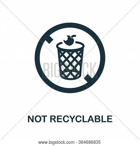Not Recyclable Icon. Simple Illustration From Recycling Collection. Creative Not Recyclable Icon For