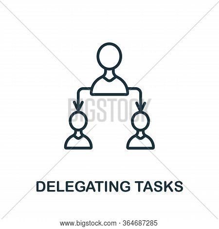 Delegating Tasks Icon From Production Management Collection. Simple Line Delegating Tasks Icon For T