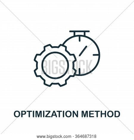 Optimization Method Icon From Production Management Collection. Simple Line Optimization Method Icon