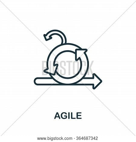 Agile Icon From Production Management Collection. Simple Line Agile Icon For Templates, Web Design A