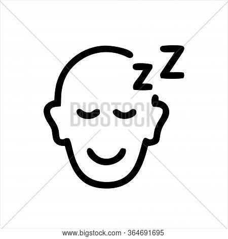 Sleeping Icon Isolated On White Background From Hotel Collection. Sleeping Icon Trendy And Modern Sl