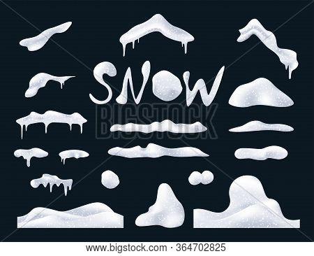 Set Of Snow Elements