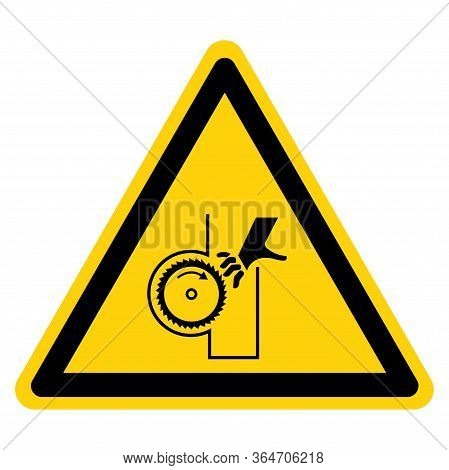 Warning Cutting And Crush Hazard Symbol Sign ,vector Illustration, Isolate On White Background Label
