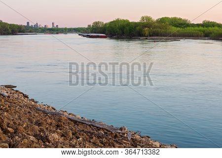 Along Mississippi River Banks In South Saint Paul At Daybreak