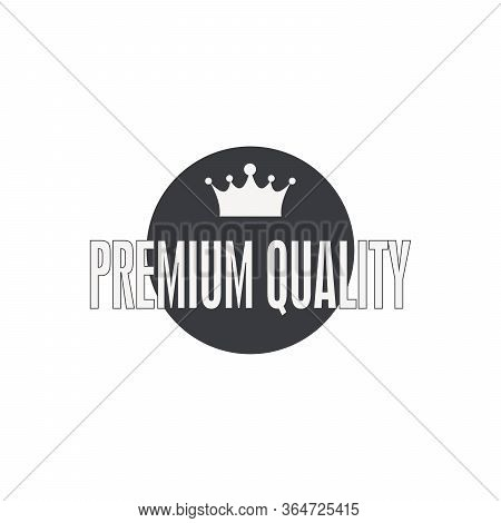King Crown Logo Vector Illustration. Royal Crown Silhouette Isolated On White Background. Vector Obj