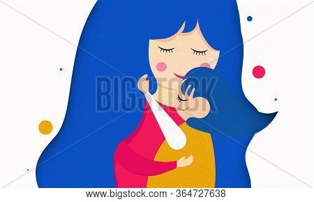 Happy Mother's Day. Wish Your Mom A Very Happy Mother's Day With This Mom And Daughter Vector Illust