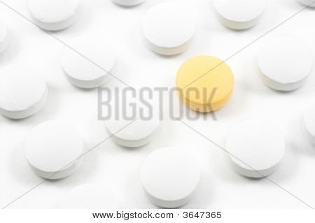 Pills And Drugs Isolated