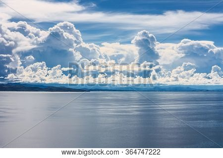 Landscape Over Lake Titicaca From Cerro El Calvario In Copacabana, Bolivia