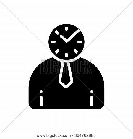 Black Solid Icon For Punctual Schedule Timely Periodic