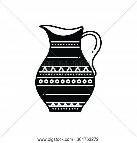 Black Solid Icon For Antique Jar Comical Marvelous Longstanding Decrepit Pristine