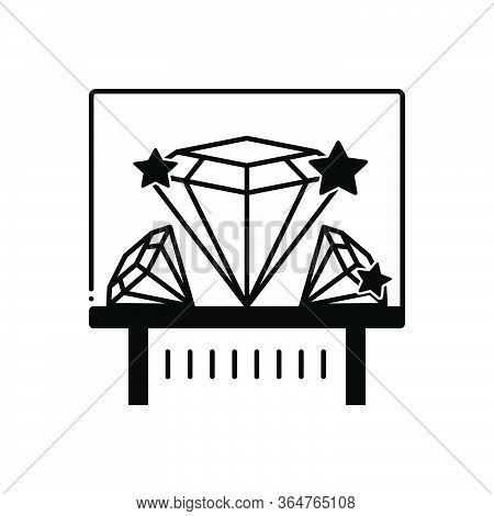 Black Solid Icon For Diamond Exhibit Sparkler  Shiner