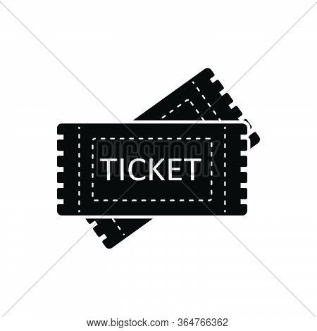 Black Solid Icon For Tickets  Talon  Coupon Voucher
