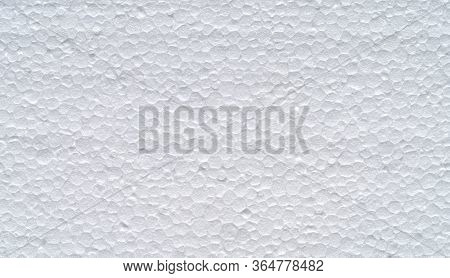 Closeup Of A White Polystyrene Surface Texture