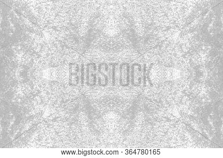 Sketch For Ceramic Tiles. Grey Symmetric Pattern On A White Background. Seamless.