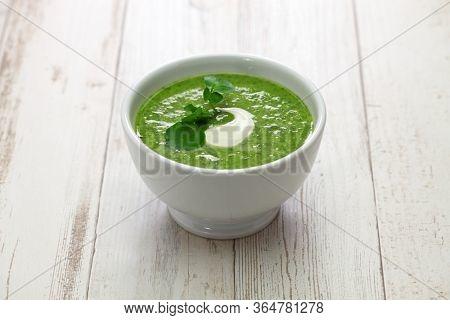 homemade watercress soup, british cuisine