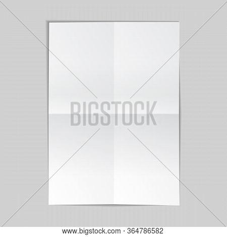 Vector Illustration Of Paper Sheet On Grey Background