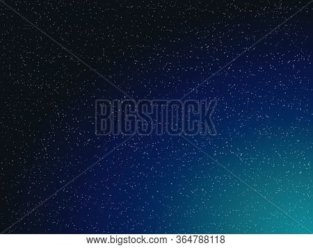 Vector Illustration Of Night Sky With Stars
