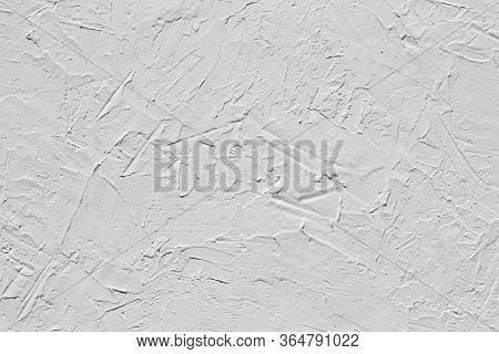 White Abstract Decorative Stucco Texture. White Stucco Background, Plastered Wall.