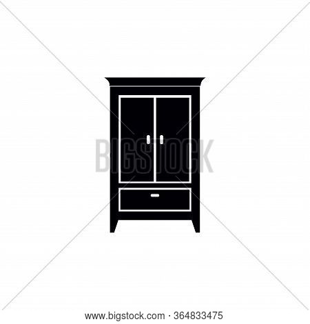 Wardrobe Icon Vector Icon On White Background. Wardrobe Icon Modern Icon For Graphic And Web Design.