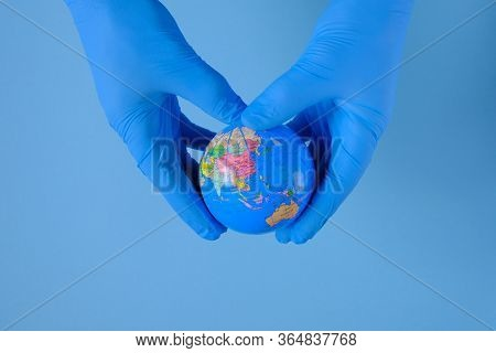 Environmental Concept. Prevention Of Viral Infection.coronavirus Safety Rules. Planet In Hands In Me