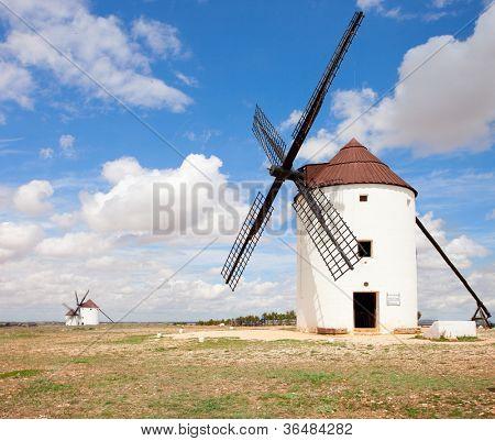 Medieval Windmills of Campo de Criptana, Castilla La Mancha, Spain.